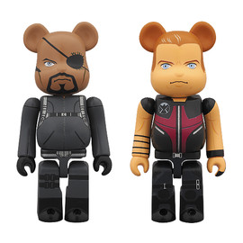MEDICOM TOY - BE@RBRICK NICK FURY(Left)/HAWKEYE(Right)