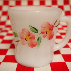 Fire King - Peach Blossom D-Handle Mug #44