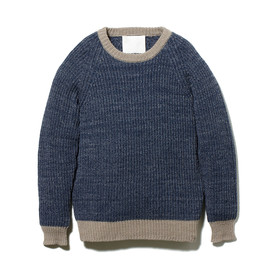 White Mountaineering - WM1473611 ROUND NECK RIB STITCH KNIT