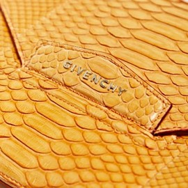Givenchy - Python Leather Envelope Bag