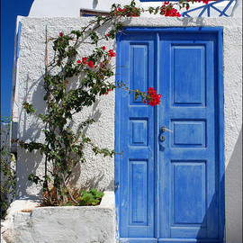 Greece, Santorini - Blue Door