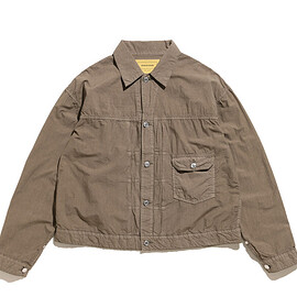 SEVEN BY SEVEN - 1st Type Cotton Silk Jacket-Product Dyed-Khaki