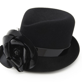 CHANEL - Hat with Flower Corsage