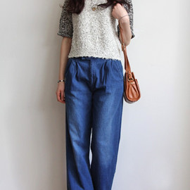 orSlow - Or Slow Denim Trouser Pants:hiari