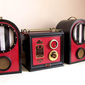Johanvonred - Victorian/steampunk stereo system for iPhone/iPod