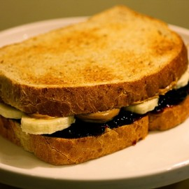 Grilled Peanut Butter, Jelly and Banana Sandwich