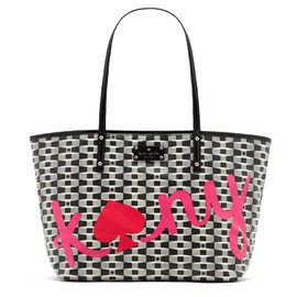 kate spade NEW YORK - signature spade Graffiti small coal