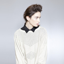 Micaela Greg - Diamond Lace Sweater