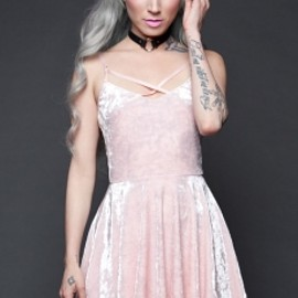 LIP SERVICE - Your Velvet Crush Baby Pink Dress