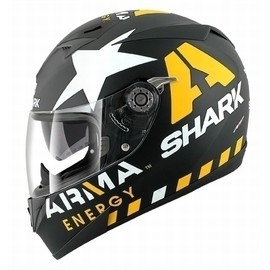 SHARK - S700-S S700 PINLOCK REDDING Mat Black yellow white