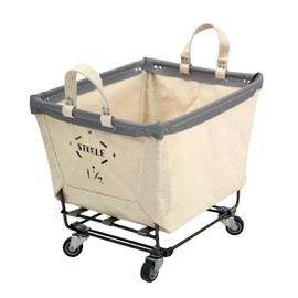 Steele Canvas Basket - #122 1.5BU / SQAURE CASTER