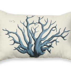Williams-Sonoma - Outdoor Printed Pillow, Blue Coral