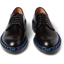 RAF SIMONS - Raf SimonsChain-Trimmed Leather Derby Shoes
