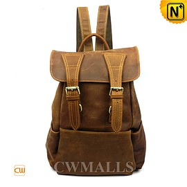 cwmalls - Leather Travel Backpack for Women CW253306