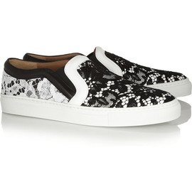 GIVENCHY - Lace-covered leather sneakers