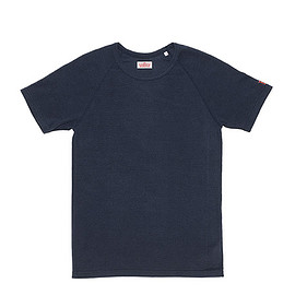 HOLLYWOOD RANCH MARKET - Stretch Fraise Short Sleeve T Shirts-Navy