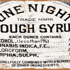 "Wall Color Signs - 9"" x 12"" 1888 Cough Syrup Cannabis and Morphine Vintage Look Reproduction Metal Sign"