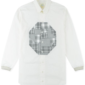 wed - SNOW PATCH WORK LONG SHIRT
