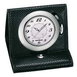 MONTBLANC - Leather Mini Travel Timepiece Black