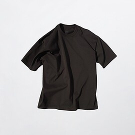 MAISON EUREKA - Giza Cotton S/S Pack Tee Black Coffee For BEST PACKING STORE