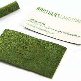 Brothers Landscaping - Turf Business cards