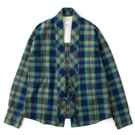 visvim - LHAMO SHIRT CHECK (GREEN CHECK)