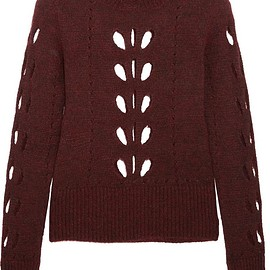 Isabel Marant - Ilia cutout pointelle-knit sweater