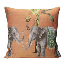 IOSIS - DIWALI 2 ELEPHANTS CUSHION COVER