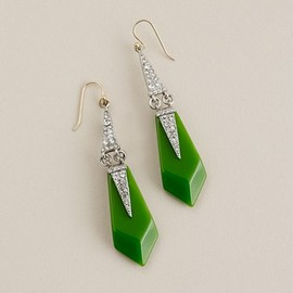 J.CREW - Lulu Frost for J.Crew resin and crystal appliqué earrings