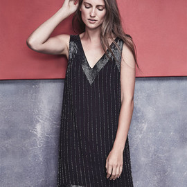 Joie - Joie Francoise Beaded Double-Strap Dress