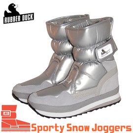 Rubber DUCK - 【RUBBER DUCK】ラバーダック・SNOW JOGGERS SPORTY(シャイニーシルバー)