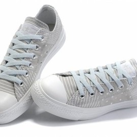 "CONVERSE - ""ALL STAR - Stripe Lowcut CONVERSE OX"" (Gray)"