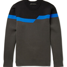 Alexander Wang - Stretch-Knit Broken-Stripe Sweatshirt