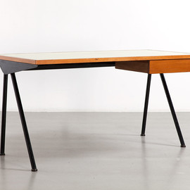 "Jean Prouvé - Compass desk with ""tube"", Antony Cite Universitaire, ca 1955"
