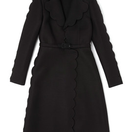 VALENTINO - Scallop Coat With Open Collar