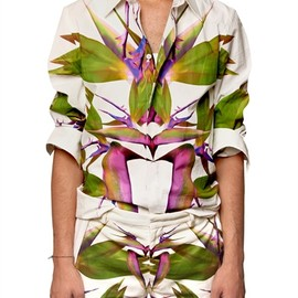 GIVENCHY - BIRDS OF PARADISE PRINTED SHIRT