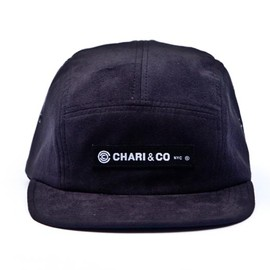 CHARI & CO NYC - SIGNATURE BOX PATCH LOGO 5 PANEL SUEDE CAP BLK