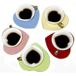 Inside Out Heart Porcelain Tea Cup Set