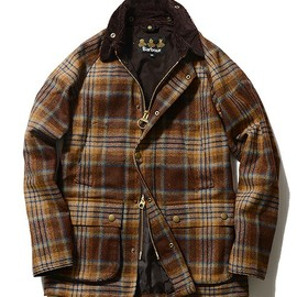 Barbour, BEAMS F - Barbour BEDALE SL ツイードチェック Beams Exclusive Model