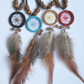 alanatt - Image of Handmade Dream Catcher Feather Necklace