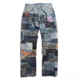 Re-make denim pants / Black