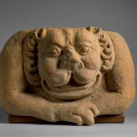 "null - Vietnam, ""Simhamukha"" Architectural Ornament, 6th Century. Terra Cotta"
