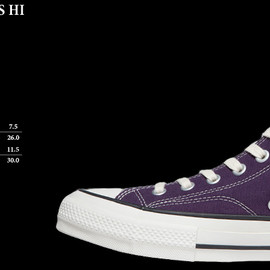"CONVERSE - CONVERSE ADDICT""CHUCK TAYLOR CANVAS HI [DEEP PURPLE]""2013F/W"