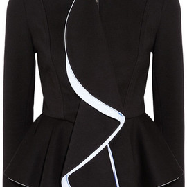 GIVENCHY - Black ruffled-front jersey jacket