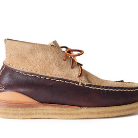 Visvim - Canoe Moc Mid-Folk, Leather & Suede