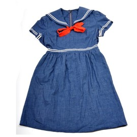 RESERVED for jordiepoo Vintage 1950s Little Darling Sailor Dress