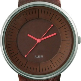 Alessi - Luna  - Brown Leather Strap - Brown Dial - AL8007