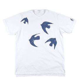 ENGINEERED GARMENTS - Printed Pocket T-Shirt-Birds-White