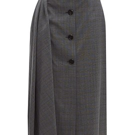PRADA - Prince of Wales-checked wool-blend midi skirt
