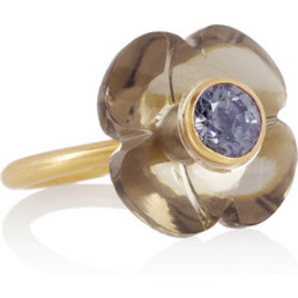 Marie-Hélène de Taillac - 22-karat gold, spinel and amethyst flower ring